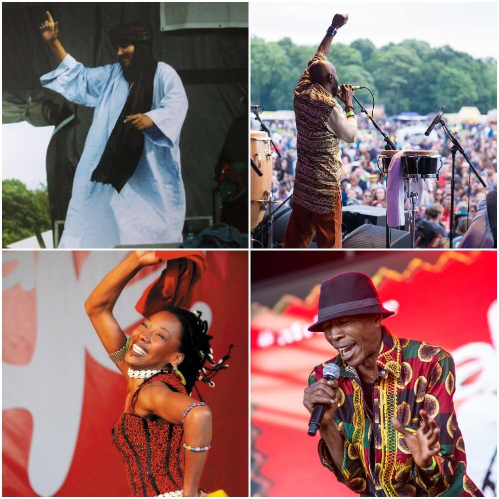 performers on stage at Africa Oye festival