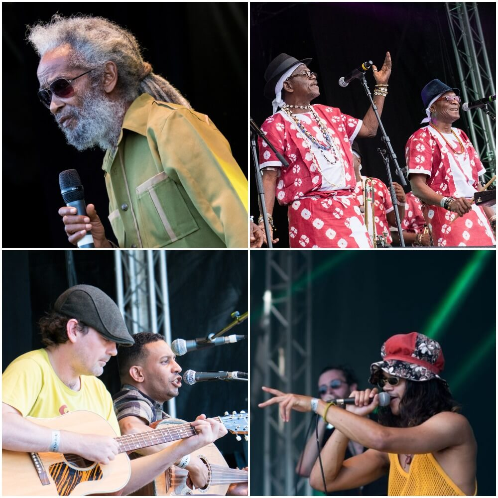 musician on stage at Africa Oye festival